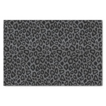 Gray and Black Leopard Animal Print Tissue Paper