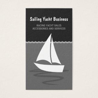 Gray and Black Sailing Yacht Sail Boat Boating Business Card