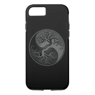 Gray and Black Tree of Life Yin Yang iPhone 8/7 Case