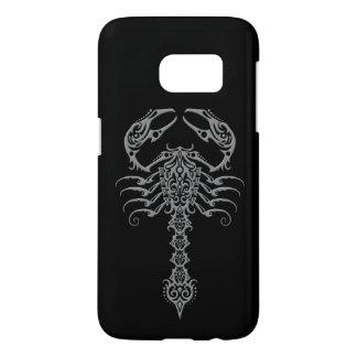 Gray and Black Tribal Scorpion Samsung Galaxy S7 Case