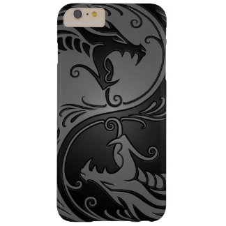 Gray and Black Yin Yang Dragons Barely There iPhone 6 Plus Case
