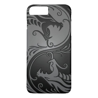 Gray and Black Yin Yang Dragons iPhone 7 Plus Case
