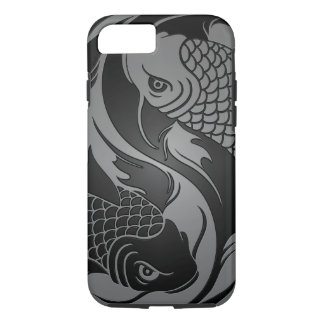 Gray and Black Yin Yang Koi Fish iPhone 8/7 Case