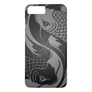 Gray and Black Yin Yang Koi Fish iPhone 8 Plus/7 Plus Case