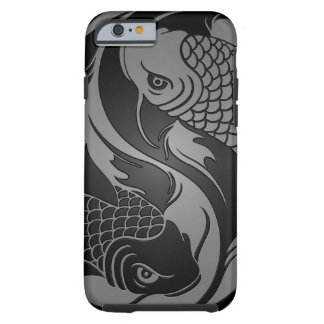 Gray and Black Yin Yang Koi Fish Tough iPhone 6 Case