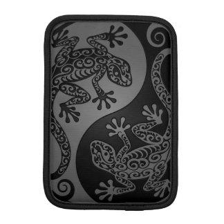 Gray and Black Yin Yang Lizards iPad Mini Sleeve