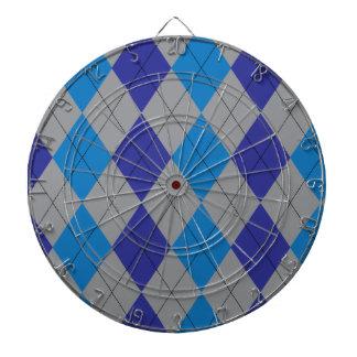 Gray and Blue Argyle Dartboard