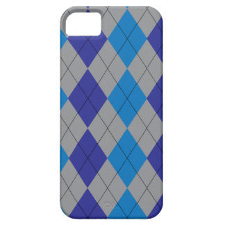 Gray and Blue Argyle iPhone 5 Covers