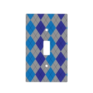 Gray and Blue Argyle Pattern