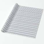 Gray and Blue Stripes Gift Wrap