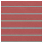 [ Thumbnail: Gray and Brown Colored Pattern Fabric ]
