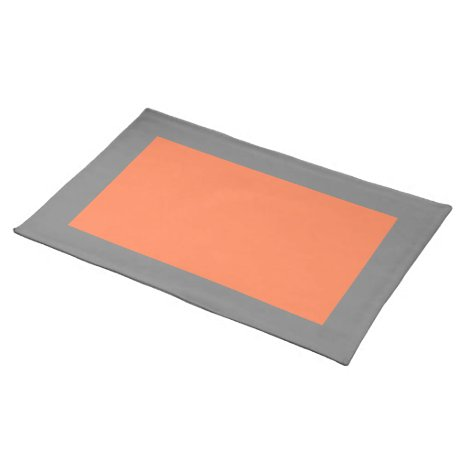 Gray and Coral Placemat