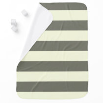 Gray and cream Stripe Receiving Blanket