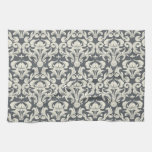 Gray and Cream Vintage Damask (3).jpg Kitchen Towels