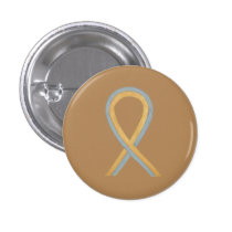 Gray and Gold Awareness Ribbon Custom Button Pins