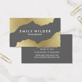 Gray and Gold Dipped | Business Card