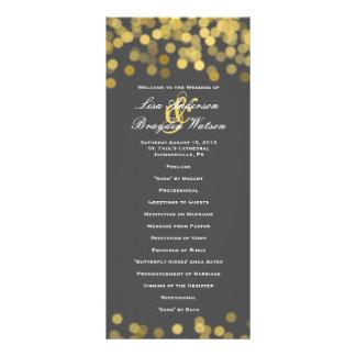 Gray and Gold Twinkle Modern Wedding Program