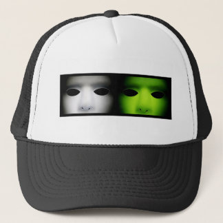 Gray and Green Aliens.jpg Trucker Hat