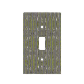 Gray and green light switch cover - Bamboo Swirl