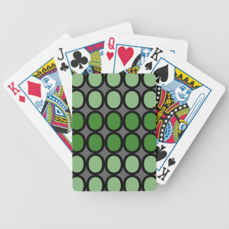 Gray and Green Splash of O's Bicycle Playing Cards
