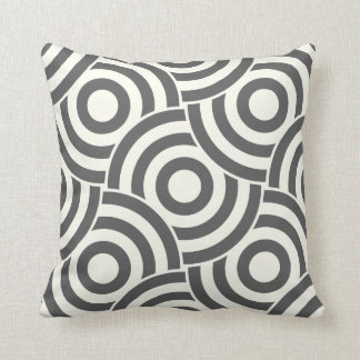 Gray and Ivory Circle Link Design PillowModern Pillow