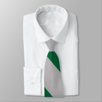 Gray and Ivy Broad University Stripe Neck Tie