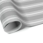 [ Thumbnail: Gray and Light Gray Colored Lines/Stripes Pattern Wrapping Paper ]