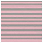 [ Thumbnail: Gray and Light Pink Colored Stripes Fabric ]