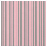 [ Thumbnail: Gray and Light Pink Stripes Fabric ]