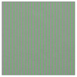 [ Thumbnail: Gray and Lime Green Colored Lines Fabric ]