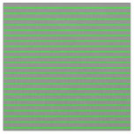 [ Thumbnail: Gray and Lime Green Colored Lines/Stripes Pattern Fabric ]