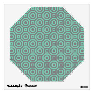 Gray and Lucite Green Nested Octagon Wall Decal