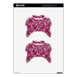 Gray and Magenta Xs Xbox 360 Controller Decal
