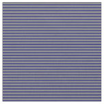 [ Thumbnail: Gray and Midnight Blue Colored Stripes Fabric ]