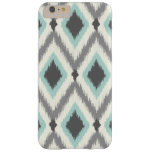 Gray and Mint Tribal Ikat Chevron Barely There iPhone 6 Plus Case