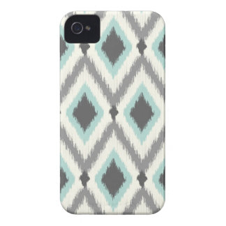 Gray and Mint Tribal Ikat Chevron Case-Mate iPhone 4 Case