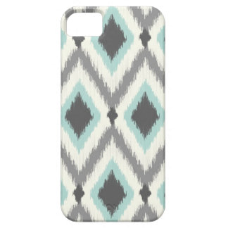 Gray and Mint Tribal Ikat Chevron iPhone 5 Case