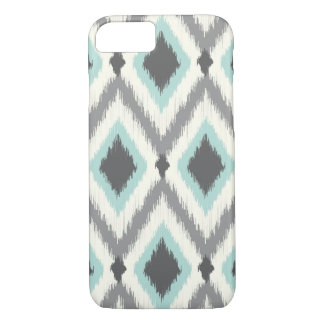 Gray and Mint Tribal Ikat Chevron iPhone 8/7 Case