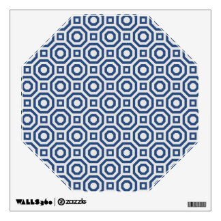 Gray and Navy Nested Octagon Wall Decal