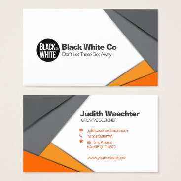 """Professional Business Gray and Orang Business Card Standard, 3.5"""" x 2.0"""""""