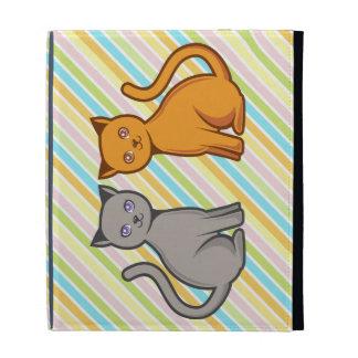 Gray and orange cats iPad folio cases