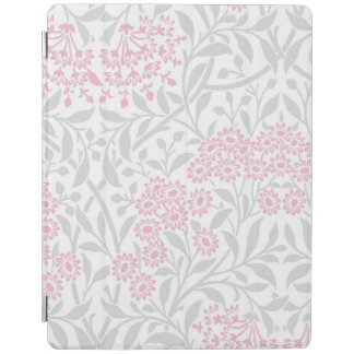 Gray and Pink Floral Damask Pattern iPad Smart Cover