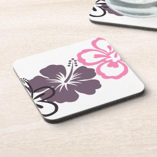 gray and pink Hawaiian Cork Coaster