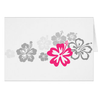 Gray and Pink Hibiscus designs Cards