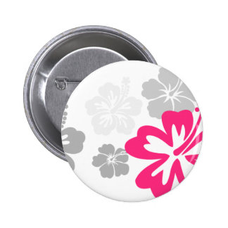 Gray and Pink Hibiscus designs Pin