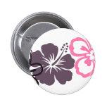 gray and pink hibiscus Hawaiian  theme Pins