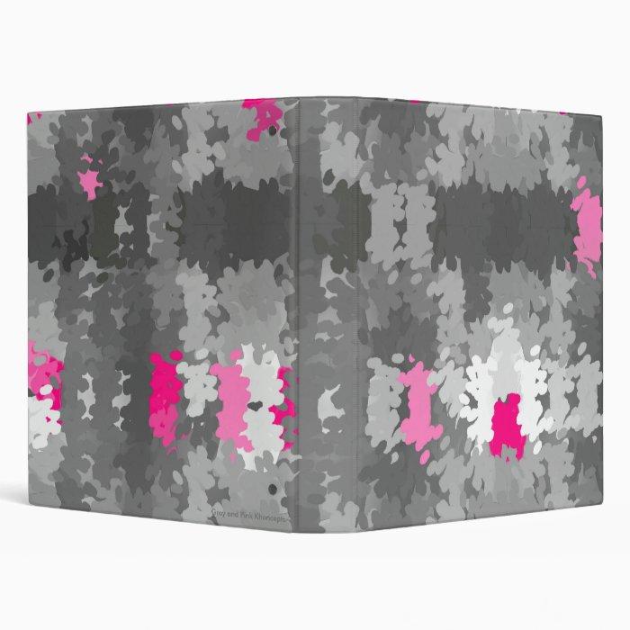 Gray and Pink Khoncepts Binder