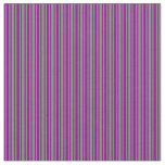 [ Thumbnail: Gray and Purple Colored Striped Pattern Fabric ]