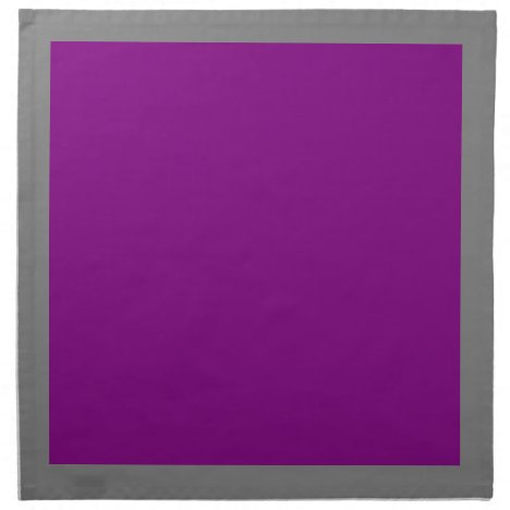 Gray and Purple Napkins