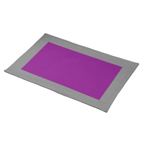 Gray and Purple Placemat